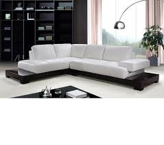 Modern White Bonded Leather Sectional Sofa Enchanting White Modern Sectional 99 Cheap Modern White Sectional