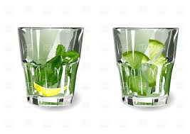 old fashioned cocktail clipart two glasses with lime and mint cocktail vector clipart image