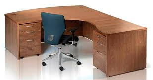 Walnut Office Desk Real Wood Office Desks And Cupboards From Aerofoil Design