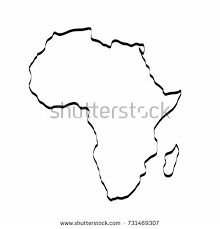 africa map drawing africa map outline graphic freehand drawing stock vector 731469307
