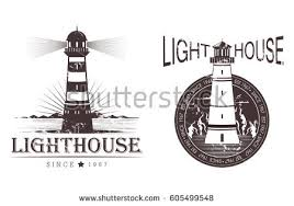 lighthouse building ships boats wheel helmsman stock vector