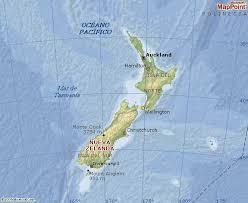 Conhecido Mapa da Nova Zelândia &RG08