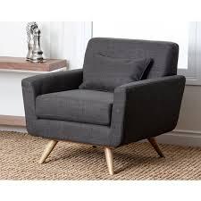 Overstock Armchair Abbyson Bradley Grey Mid Century Fabric Armchair Free Shipping