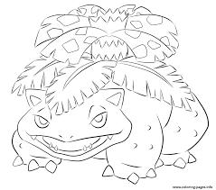 003 venusaur pokemon coloring pages printable