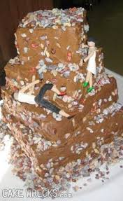 wedding cake disasters i don t what the groom s supposed to be doing but whatever