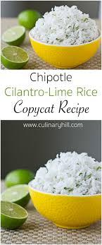 recette de cuisine all chipotle cilantro lime rice recette riz cuisiner et coriandre