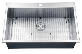 33 by 22 kitchen sink ruvati rvh8000 tirana overmount 16 gauge 33 inch stainless s