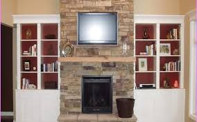 built in cabinets around fireplace stovers
