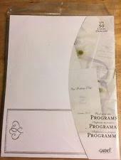 wedding programs trifold wedding programs invitations stationery ebay