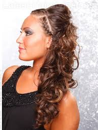 2 braids in front hair down hairstyle long natural hair 20 gorgeous formal half updos you ll fall in love with