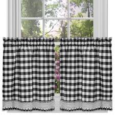 black and white kitchen curtains amazon com