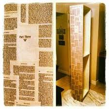 Upcycle Old Books - an old dresser upcycled and covered in old book pages to store my