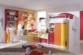 bedroom design room decor cool bunk beds built into wall