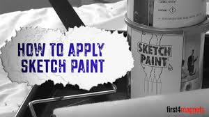 how to apply sketch whiteboard paint youtube