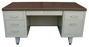 Metal Office Desk Used 30 X 60 Metal Tank Desk Arizona Office Furniture