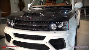 land rover sport custom dubai u0027s custom range rover sport with custom body kit youtube