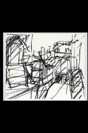 frank auerbach sketch to the studios 1977 ink on paper 29 5 x