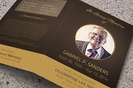 Memorial Pamphlets Samples Funeral Program Template Bi Fold Brochure Templates Creative