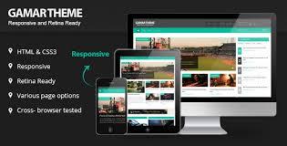 design magazine site gammar responsive magazine website html5 template by kopasoft