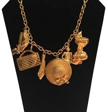 charm necklace vintage images Chanel gold vintage hallmark scarce plated charm necklace tradesy jpg