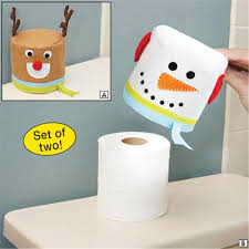 Toilet Tissue Holder Aliexpress Com Buy 2pc Lot Merry Christmas Snowman And Elk