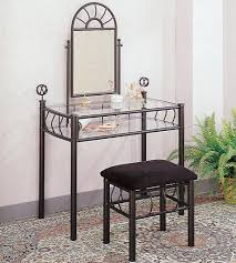 Linon Home Decor Vanity Set With Butterfly Bench Black by Black Bedroom Vanity Set