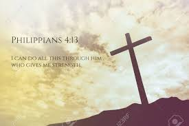 philippians 4 13 vintage bible verse background on one cross
