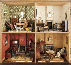 early 19th century english wooden furnished dollhouse the ivy
