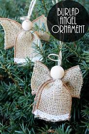 ornaments made from burlap the country chic cottage