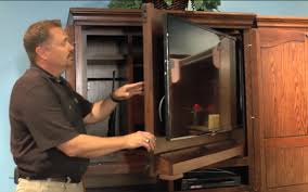 Tv Armoire Tv Armoire 2425 Demo Preview With Fingerprint Activated Safe
