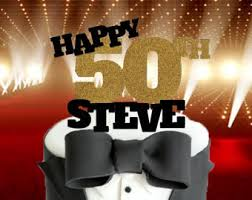 50th Birthday Centerpieces For Men by 50th Cake Topper Etsy
