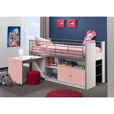 lit sureleve avec bureau lit mezzanine avec bureau coulissant enfant bon achat vente