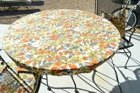 vinyl elasticized table cover round vinyl table covers get quotations a fitted elastic edge round