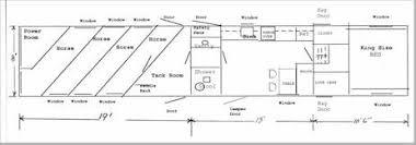horse trailer living quarter floor plans boat trailer construction plan rans