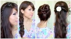 tutorial menata rambut panjang simple tutorial rambut mudah dan simple untuk sekolah atau kuliah 2