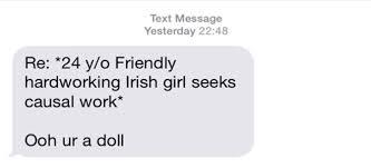 Seeking Text Message A Social Experiment On Harassment Seeking Work On Gumtree