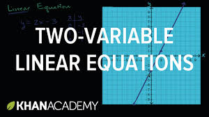 two variable linear equations and their graphs algebra i khan academy you