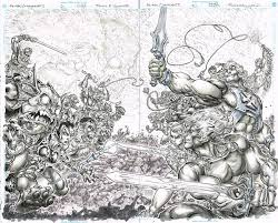 heman thundercats original art freddie e williams ii