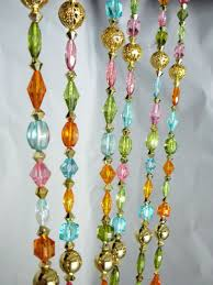 Pastel Coloured Curtains 6ft Pastel Colored Crystal Beaded Curtain House Proud