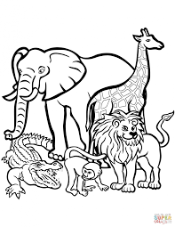coloring wild animaloloring page for jungle animals pages glum
