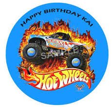 hot wheels cake toppers hot wheels personalised edible icing party birthday cake