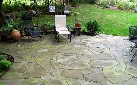 stpne patios flagstone patio in shady backyard patio ideas
