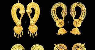 gold kaan earrings kaan earrings models with ear coverage jewellery designs