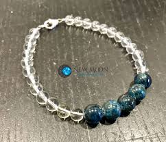 quartz crystal bracelet beads images Weight loss bracelet quartz crystal blue apatite gemstone beads jpg