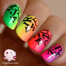 neon color nail art gallery nail art designs