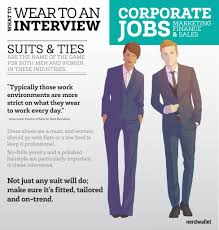 what to wear to a marketing sales or finance job interview