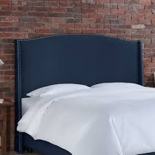 Wingback Headboard King by Buy Nail Button Linen Wingback Headboard Color Linen Navy Size King
