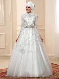 robe mariã e manche longue robe de mariée musulmane manche longue arabe col montant dentelle