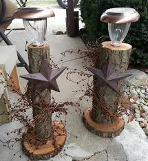 what can you do with fallen trees branches rustic pillars