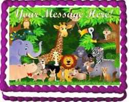 safari cake topper etsy